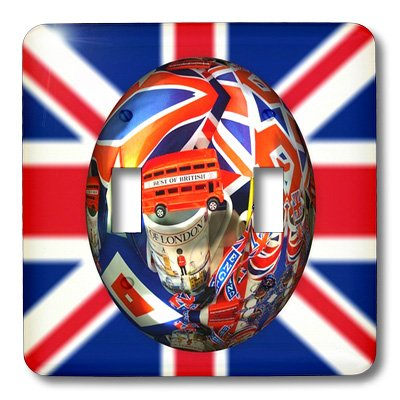 Lsp_179520_2 Florene - Decorative Ii - Image Of British Design On Great Britain Flag - Light Switch Covers - Double Toggle Switch