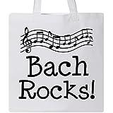 Inktastic Bach Rocks Composer Tote Bag White