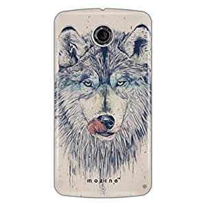 Mozine Hungry Wolf Printed Mobile Back Cover For Google Nexus 6