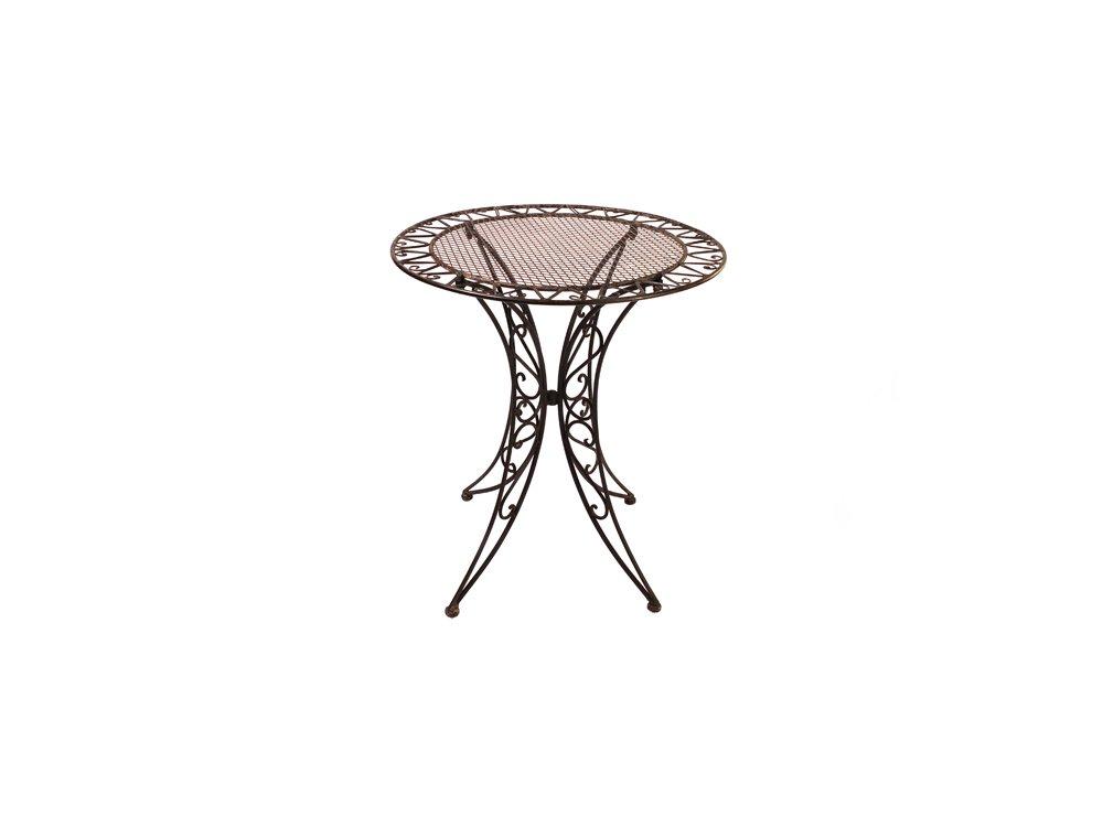 Gartenmöbel Tisch Garten Schmiedeisen Bistrotisch Gartentisch Antik Stil DM 70cm günstig bestellen