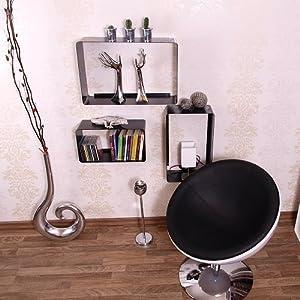 lounge design cube set metall 70er von design delights space age m bel retro regal schwarz. Black Bedroom Furniture Sets. Home Design Ideas