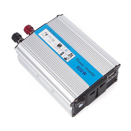 [autvivid 500W Power Inverter DC 12V to AC 110V with Battery Clamps USB Socket Plug] (Optimus Prime Costume 2016)