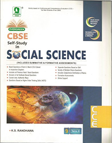 Evergreen CBSE Self Study in Social Science Term II for Class 9