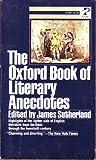 Oxford Bk Lit Anec (0671819674) by James sutherland