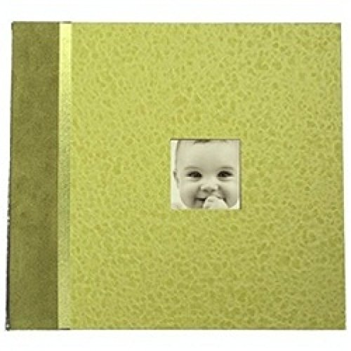 Aimee J Baby Days Memory Album Scrapbook in Kiwi Green - 1
