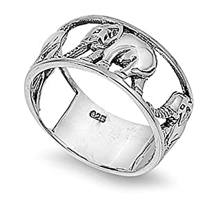 rhodium plated sterling silver wedding engagement ring