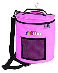 ArtBin Yarn Drum 6806SA Knitting and Crochet Tote, Pink Ribbon