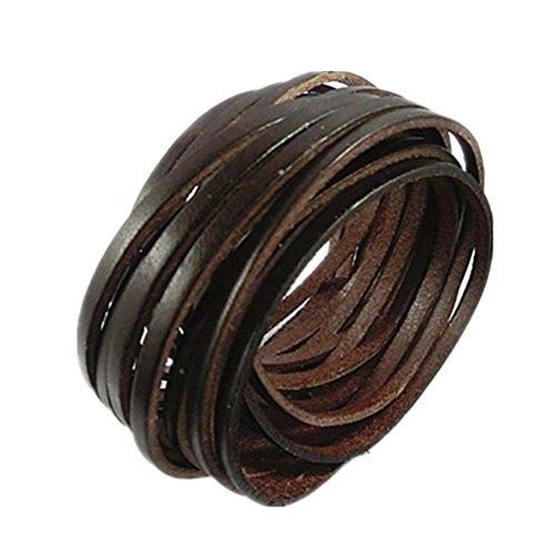 Original Tribe Wrap Bracelet Bangle Bracciale in pelle da donna Bracciale in pelle Bracciale Uomo Braccialetto di cuoio del polsino Sl2516 (Brown)