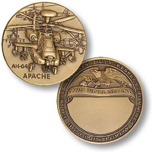 AH-64 Apache Engravable Challenge Coin