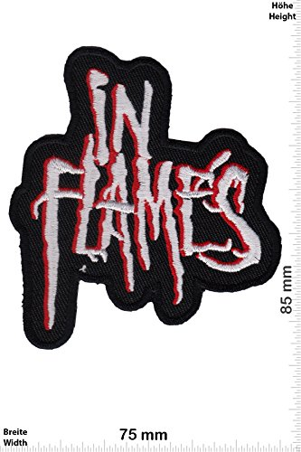 Patch - In Flames -Melodic-Death-Metal-Band - Musicpatch - Rock - Vest - Chaleco - toppa - applicazione - Ricamato termo-adesivo - Give Away