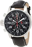 "Invicta Men's 2770 ""Force"" Collection Stainless Steel and Leather ""Lefty"" Military Watch from Invicta"