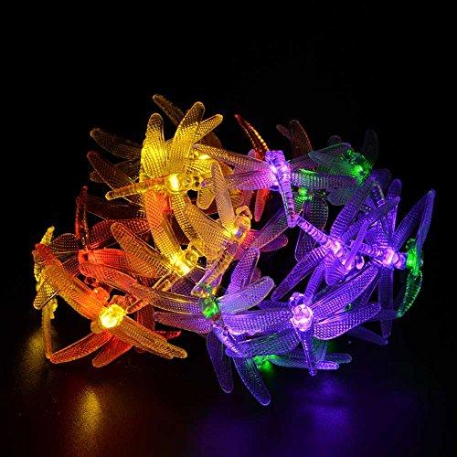 LederTEK Christmas Solar Garden Lights 19.7ft 30 LED 8