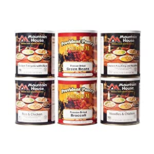 Mountain House Freeze-Dried Poultry Entrees and Vegetable Side Combo by Provident Pantry and Mountain House