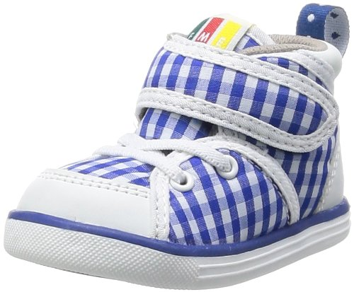 [IFMA] IFME baby check and floral MID cut 22-4002 BLUE (BLUE/14.0)