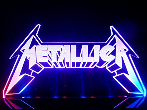 Metallica Logo Heavy Metal Rock LED Desk Lamp Night Light Beer Bar Bedroom Game Room Signs (Metallica Garage Inc Cd compare prices)