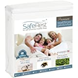 SafeRest Hypoallergenic Waterproof Queen Size Vinyl Free Mattress Protector