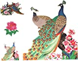 Look like real waterproof non toxic big size large dimension 21CM X 23CM temporary tattoo beatiful peacocks temporary tattoo sticker for women's half back