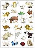 Maildor - gommettes repositionnables baby - motif animaux - à partir de 3 ans