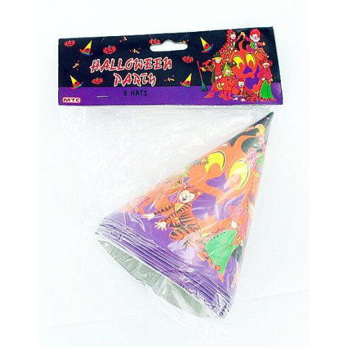 96 8 pack halloween party hats