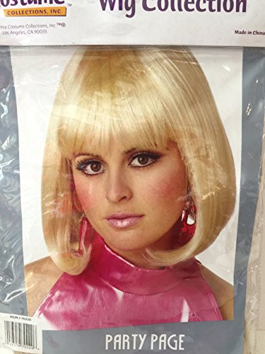 Blonde Party Page Costume Wig