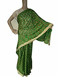 Beautiful RUDA Designer Phulkari Embroidered Saree-JS1107