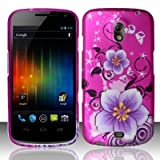 Samsung Galaxy Nexus Prime i515 Accessory - Hot Pink Sakura Design Protective Hard Case Cover for Sprint/Verizon/Telus