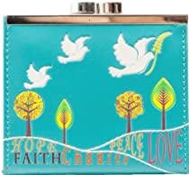 Shagwear Womens Teal Faith Hope Love Coin Purse