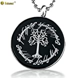 Men's Necklace Men Necklace Titanium the Lord of the Rings the White Tree Necklace Gifts