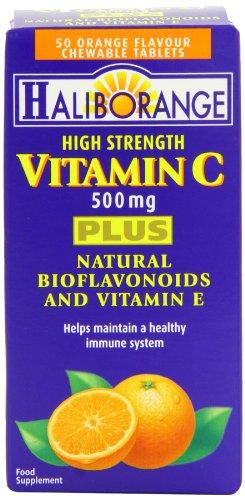 Haliborange High Strength Vitamin C Tablets 500mg  50 Tablets