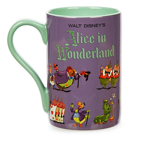Disney Store Alice in Wonderland Record Cover Mug Coffe Cup 16 oz