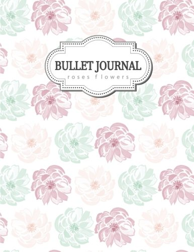 Bullet Journal  Roses Flowers Red and Green, Roses, Red Roses, Floral Watercolor, Floral Notebook, Cute Notebook for Girls and Women, Bullet Journal ... Book, Journal, 8.5 x 11 inch 110 page, Unline [Journal, Blue Lover] (Tapa Blanda)