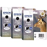 Epson T1301 Ink Cartridges - Black (Pack of 3)