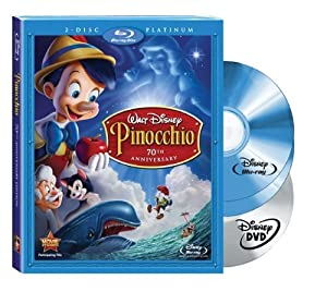 Pinocchio Two-disc 70th Anniversary Platinum Edition Blu-raydvd Combo Bd Live Blu-ray from Walt Disney Studios Home Entertainment