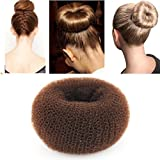 iLuLu Beauté 1 Piece Hair Styling maille Chignon Bun Shapers Brown Couleur