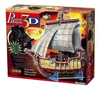 Cheap Hasbro Puzz 3D – Pirate Ship – Glow in the Dark Puzzle (B0009MYQ9K)