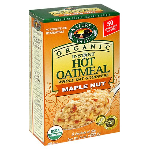 Nature's Path Organic Instant Hot Oatmeal, Maple  Nut