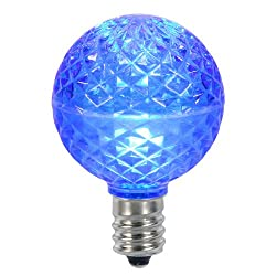 Club Pack of 25 LED G50 Blue Replacement Christmas Light Bulbs - E17 Base