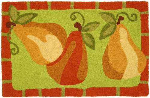 Jellybean Kitchen Pears Accent Area Rug