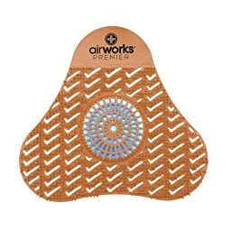 AirWorks AWSP007 Premier Urinal Screen with Block, Mango, Light Orange, 5\