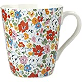 Cath Kidston 500 ml Fine China Mews Ditsy Stanley Mug, White