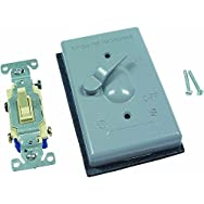 Hubbell5962-1Do it Weatherproof Outdoor Switch Cover-GRAY OUTDOR COVER/SWITCH
