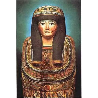 Amazon.com: Mummy Case of Lady Teshat, Art Poster by Egyptian