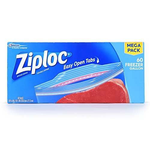 Ziploc Freezer Bags Gallon, 60.0 Count (Ziploc Gallon Bags Freezer compare prices)