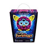 Houndstooth Furby Furblings Purple Plush Figure