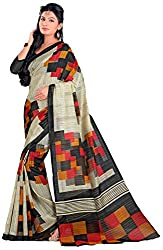 Lizel Fashion Women's Cotton Silk Saree (Bhagalpuri11016)