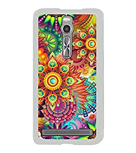 Bright Colourful Pattern 2D Hard Polycarbonate Designer Back Case Cover for Asus Zenfone 2 ZE551ML