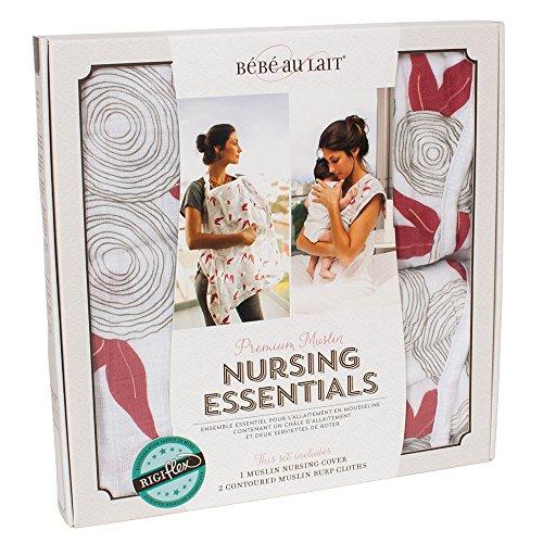 Bebe au Lait Premium Muslin Nursing Essentials Set, Fiori