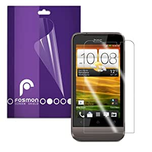 Fosmon Crystal Clear Screen Protector for HTC One V - 3 Packs (Included Antenna Cell Booster)
