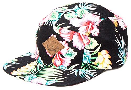 5-Panel-Hats-Black-HibiscusOS
