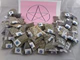 "Lisa's Creations, Inc 50 Herb Sampler Kit with charcoal, White Sage wand, and handmade 3"" x 3"" muslin bag"
